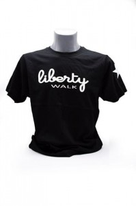 Liberty Walk Black T-shirt with White Stars