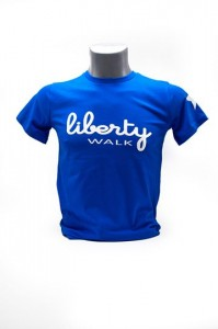 Liberty Walk T-Shirt Royal Blue with White Stars